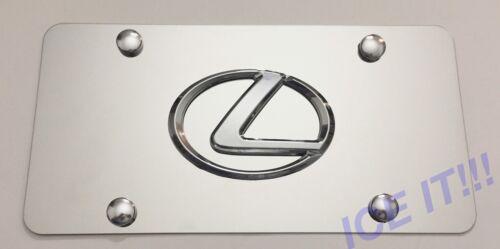 LEXUS Front Mirror Stainless Steel Heavy Duty 1mm License plate W Bolts /& Screws