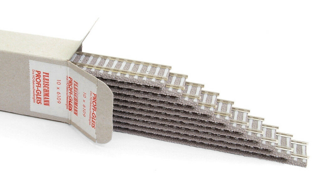 Fleischmann Fleischmann Fleischmann 6109-10 10x cemento flessibile soglie binario + + NUOVO & OVP + + 0c1f0c
