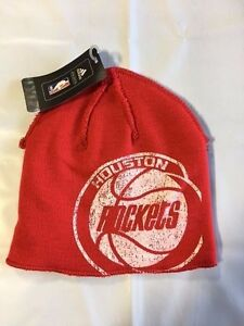 outlet store c5d16 3cee1 Image is loading Houston-Rockets-ADIDAS-Knit-Beanie-Toque-Skull-Cap-