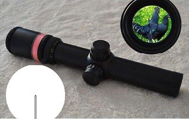 Alcance de fibra óptica 1.5-6x24 retícula iluminada  Triángulo Rojo + 20mm se monta  Mejor precio