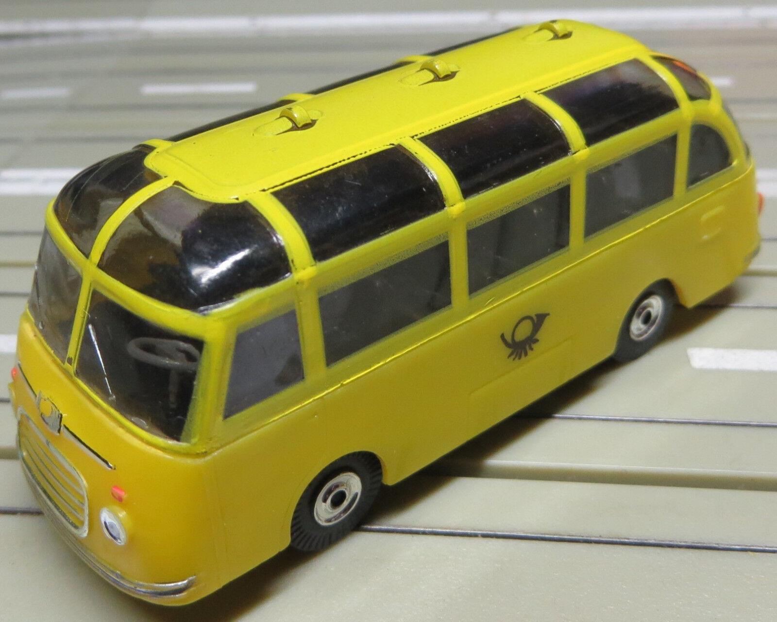 Für H0 SMassecar Racing Modelllbahn --  Setra Post bus mit T-Jetmotor