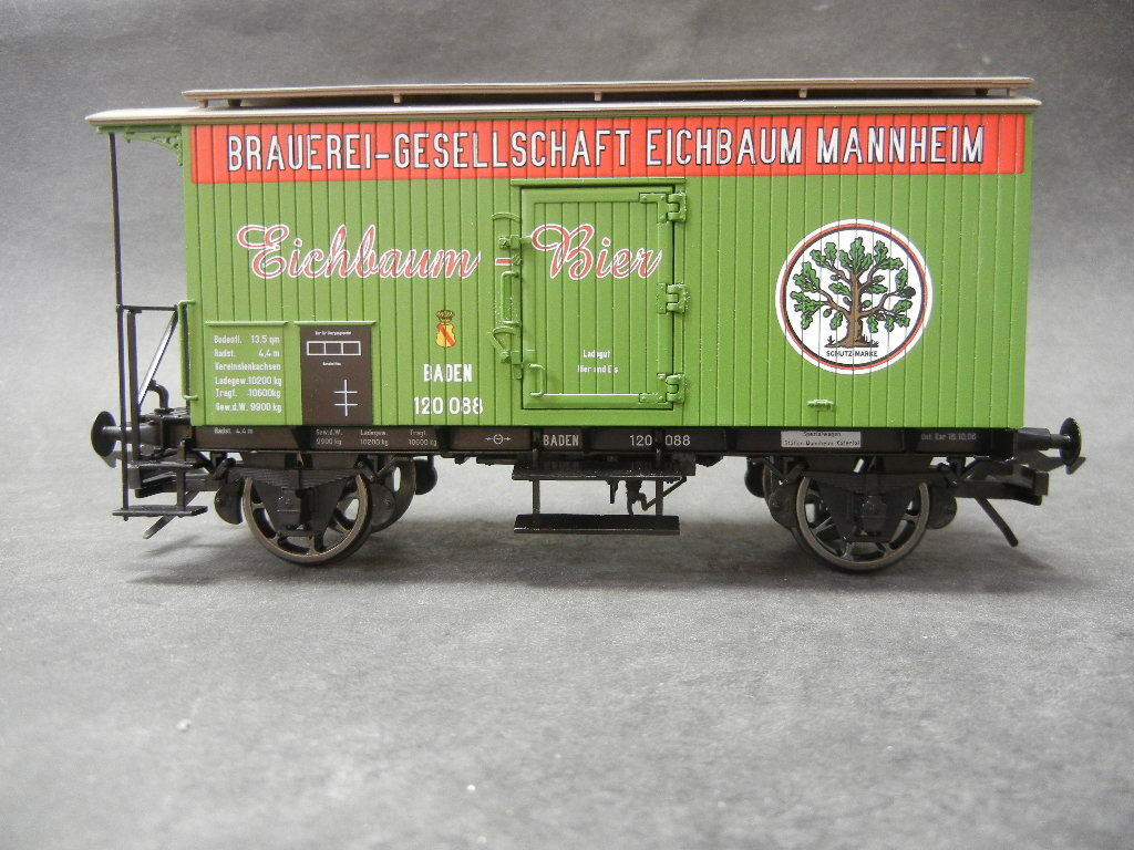 Spur 0 MTH 122940030 Eichbaum Bier Wagen Wagen Wagen grün 2-achsig Neu im Karton  | Die erste Reihe von umfassenden Spezifikationen für Kunden  9ad111