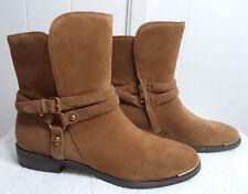 977b10bdb92 UGG Australia 1958 Lynnea Chestnut Brown Leather Wood Heel BOOTS ...
