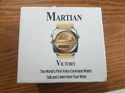 Brand New Martian Victory MV100TST TAN SMART WATCH Voice Command Unisex NIB