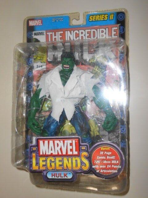 El Increíble Hulk (2002) Leyendas De Marvel (Serie II) Figura de acción + Libro De Historietas