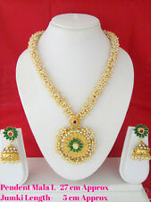 New Indian Jewelry Long Set Bollywood Ethnic Gold Plated South Indian Mala Set