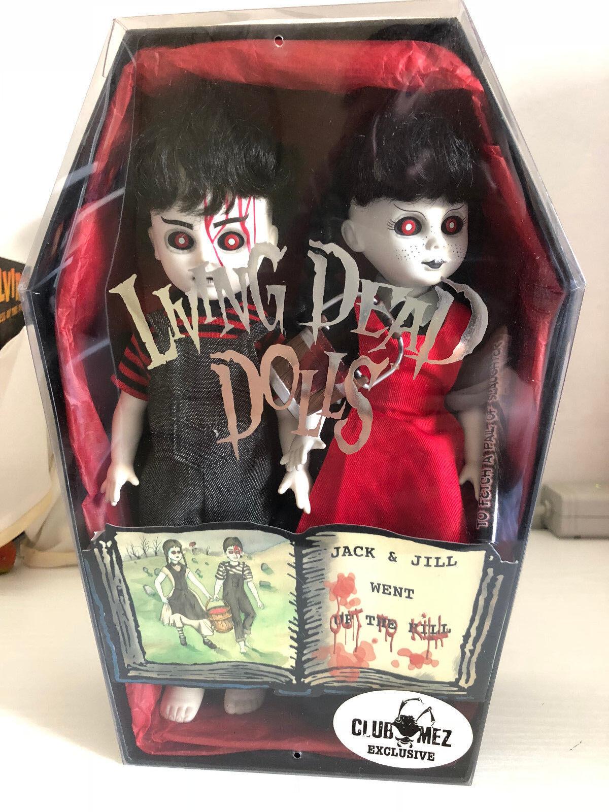 Living Dead Dolls JACK & JILL Puppen wie neu