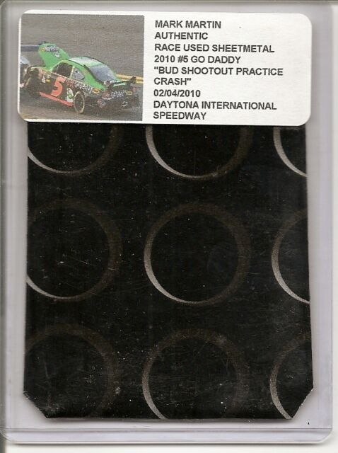 Mark Martin authentic race used sheet-metal 2010 Bud practice CRASH at Daytona