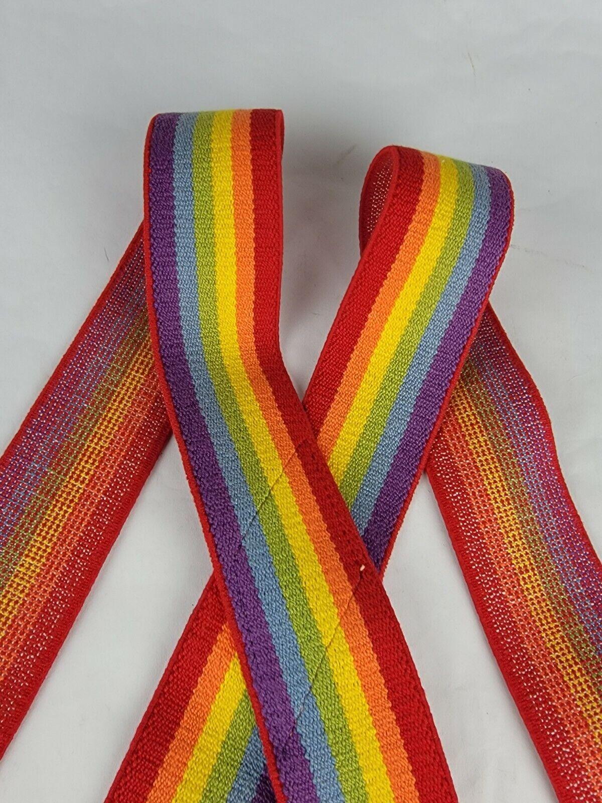 "Vintage 2"" x 35"" Rainbow Suspenders Adjustable Un… - image 6"