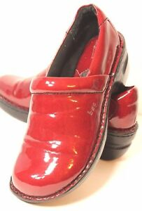 B-O-C-Born-Concept-Womens-Size-7-M-Red-Loafer-Wedge-Clogs
