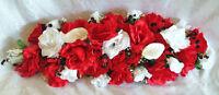 27 Custom Swag Red & White Centerpieces Silk Wedding Flowers Arch Decor Callas