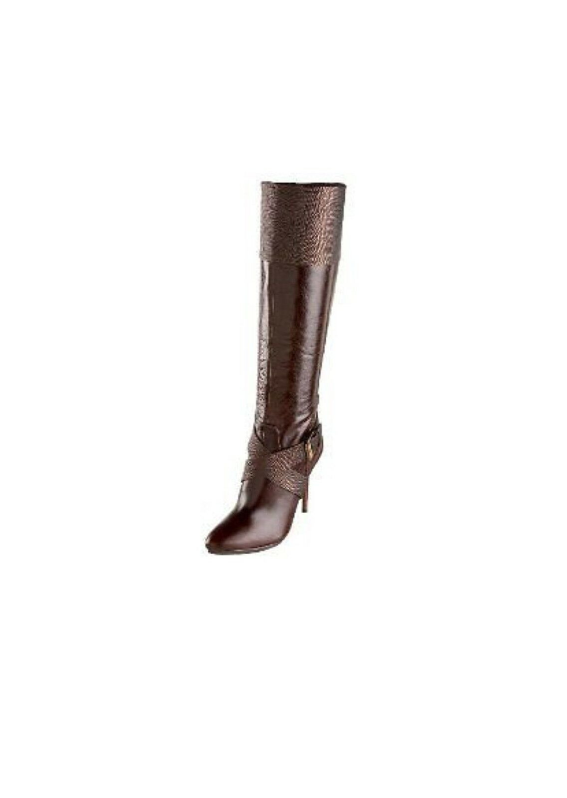 $368 MARCIANO GUESS CARELLE RUNWAY BOOT DRESS SHOES BROWN SIZE 6 9