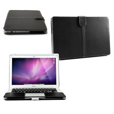 Smart Black Premium PU LEATHER Sleeve Case Cover for Apple MacBook Air 13""