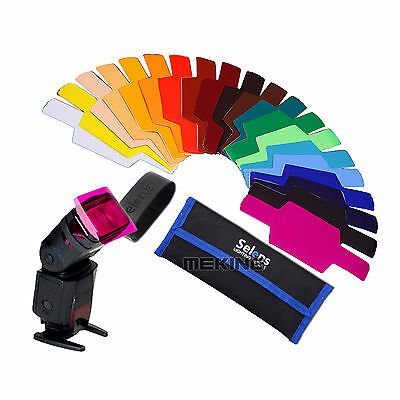 Selens SE-CG20 Flash Color Gels Filter for Canon 600EX/580EXII/580EX/550EX
