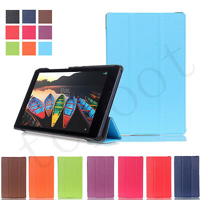 Silm Flip Folding Stand Leather Case Cover Stand Skin For Lenovo Tab3 8/Tab2 A8