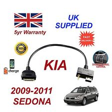 For KIA Sedona iPhone 3 3gs 4 4S iPod USB & 3.5mm Aux Audio Cable 2009 - 2011
