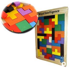 NEU-Paedagogisches-Spielzeug-Holz-Tetris-Motorik-Denkspielzeug-Lernspiel-Puzzle