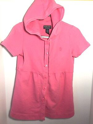 superior quality pretty cheap later Polo Jeans Company Junior Girls Sz Small Pink Beach Hoodie Jacket ...