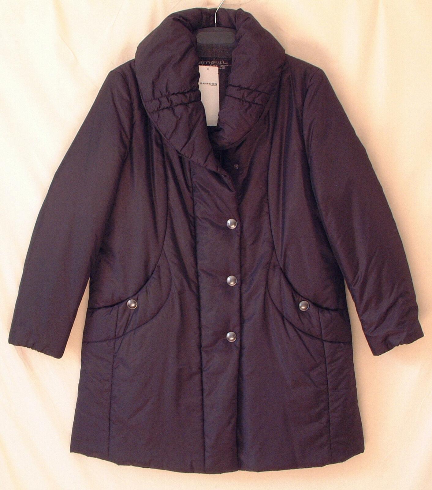 Samoon abrigo gerry weber  abrigo invernal marrón oscuro pantalón volumen cuello talla  servicio honesto