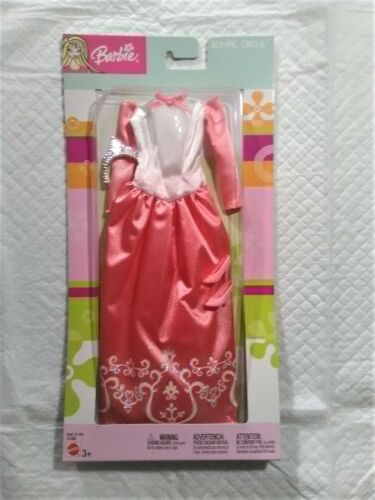 C1191 #C1356 NRFB Royal Circle Pink Gown with Tiara Asst Barbie Fashion Ave