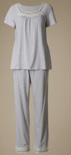 Coo.l comfort Size 8-22 RRP £25 Ex M/&S Womens Pyjama Pj Set Short Sleeve