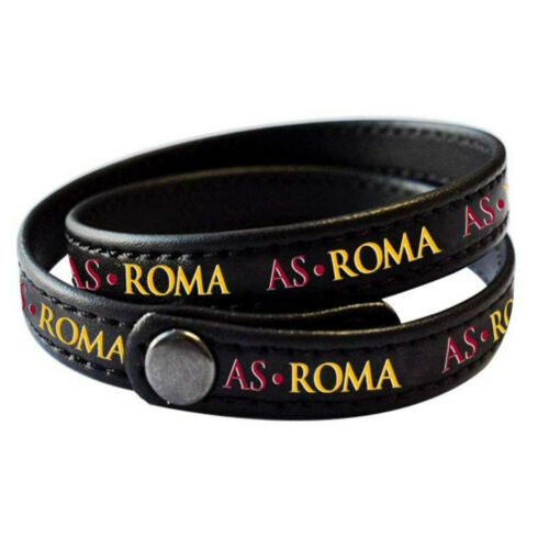AS ROMA BRACCIALE IN ECOPELLE BRACCIALE ROMA DOPPIO GIRO BRACCIALE AS ROMA PROD.