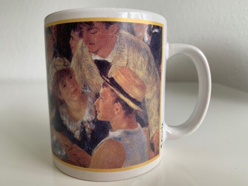 """Cafe Arts Renoir Coffee Mug """"Luncheon of the Boating Party"""" New"""
