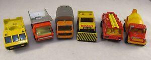 Vintage-Matchbox-amp-Majorette-1970-039-s-amp-80-039-s-Bundle-Rescue-amp-Building-Vehicles