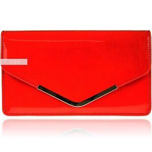 9078d5edf La imagen se está cargando Nuevo-Estiloso-Charol-Rojo-Boda-Mujer-Fiesta -Graduacion-