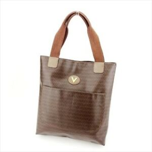 68fe7d07f7 Mario Valentino Tote bag Brown PVC Leather Woman unisex Authentic ...