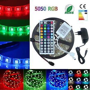 1-10m-LED-Stripe-RGB-Leiste-Streifen-SMD-Band-Lichter-Licht-Leuchte-Lichterkette
