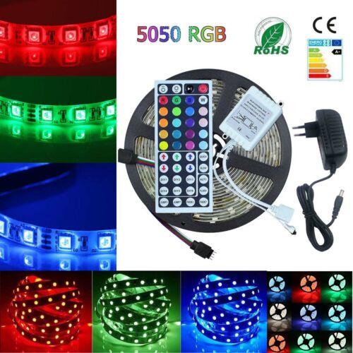 RGB LED Stripe Leiste Streifen 5050 SMD Band Licht Leuchte Lichterkette 1-30m