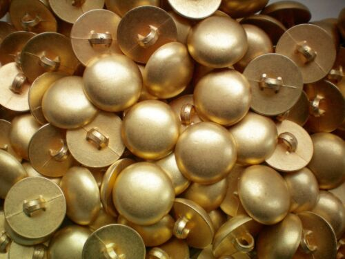 18mm 28L Light Gold Dome Ball Shank Craft Children Baby Sewing Button K175