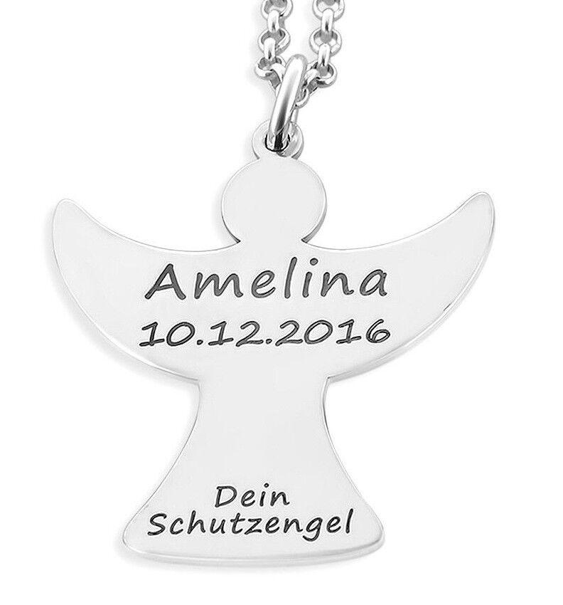Prossoezione CATENA Angelo Angelo Angelo Angelo gioielli con incisione regalo per nascita o battesimo 412278