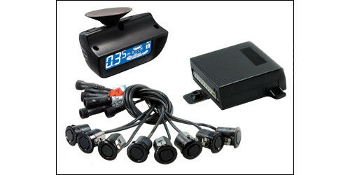 Crimestopper CA-5025 Front /& Rear Parking Sensor System Windshield LCD Display