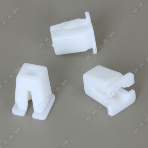 10x UNIVERSAL EXPANDER NUT FASTENING CLIPS FOR BODY TRIM WHITE *NEW*