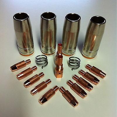 MAG Verschleißteile Set MB25 / 250 - Stromdüsen+Gasdüsen+Haltefeder+Düsenstock