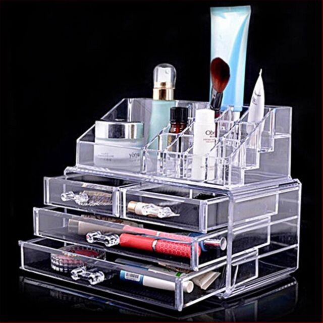 Cosmetics Organiser Makeup Acrylic Clear Case Luxury Crystal Storage Insert A