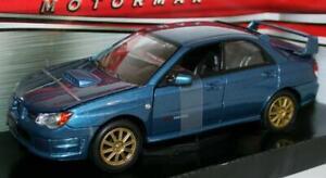 Motormax 1/24 scala del modello in metallo 73330-SUBARU IMPREZA WRX STI-Blu