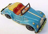 "1950's MG TF CONVERTIBLE tin litho 4.25"" friction car JAPAN"