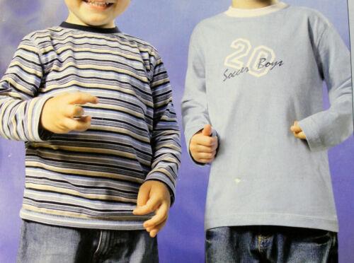 98 104 116 128 Langarmshirt Shirts Pulli Pullover 2er Pack Set Jungen blau Gr
