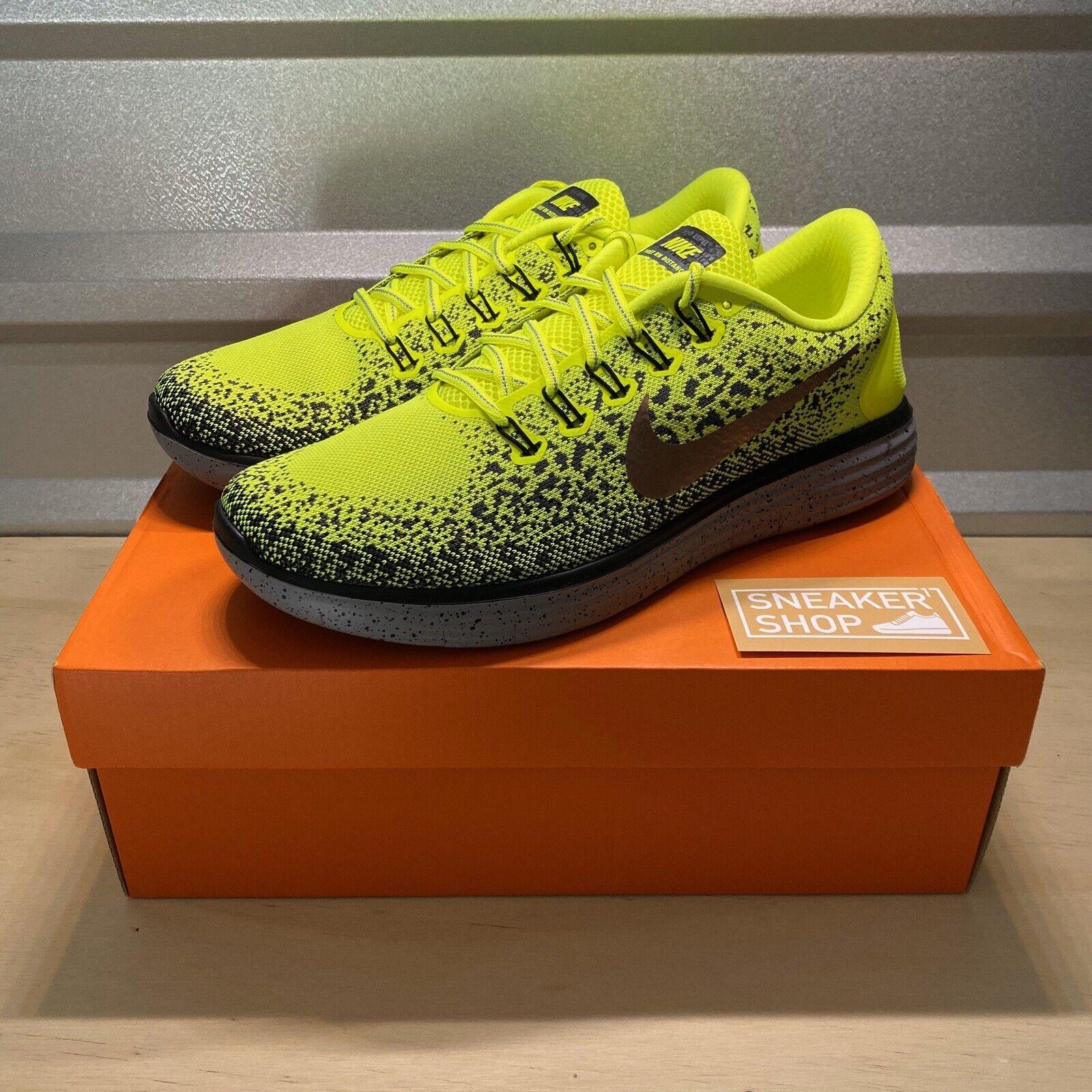 persecucion Nutrición carta  Nike Free RN Distance Shield Black Grey Volt Size 11 (849660 700) for sale  online