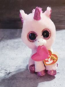 """LOT OF 15 Ty Beanie Boos 6"""" DARLING the 2020 Valentine's Day Unicorn Plush NWT"""