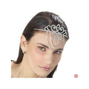 Caricamento dell immagine in corso Diadema-Cerchietto-sposa-acconciatura- cristallo-bianco-strass-brillaniti- 0422f4ec7ddf