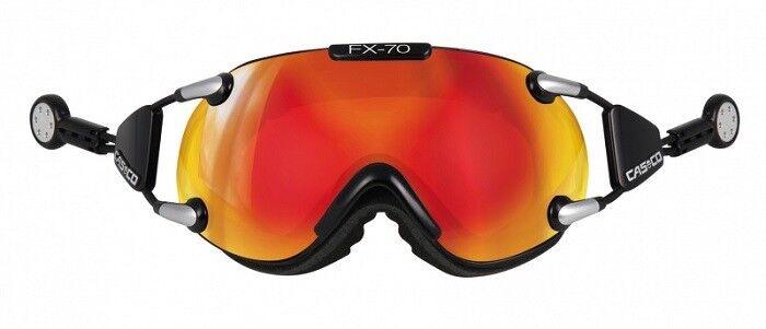 Casco Skibrille FX-70 Carbonic Farbe  black-orange verspiegelt - Größe  M