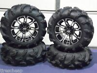 27 Polaris Ranger Mega Mayhem 1.5 Lug Atv Tire & 14 Atv Wheel Kit Ss3