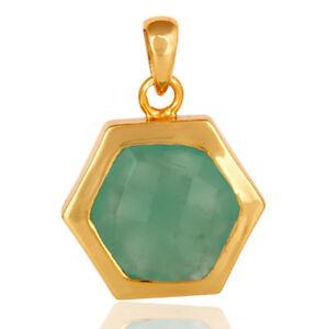 Handmade-Aqua-Chalcedony-925-Silver-Top-Fashion-Pendant-Gemstone-Jewelry