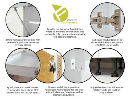 Grey Gloss Kitchen Unit Corner Base Cabinet Cupboard Soft Close 90 x 90 cm Luxe