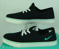 New Mens 13 NIKE SB Braata LR Canvas Black Teal Vegan Skate Shoes $70 458697-031