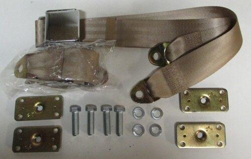 """Retrofit Mtg Kit Saddle Tan Seat Belt Non Retractable Tan Seat Belts 2 74/"""""""